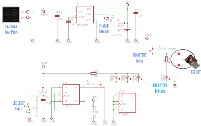 Solar Window Charger Circuit 4