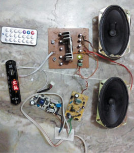 Two-Channel Wireless Audio Amplifier Using Bluetooth and TA8210AH Schematic Circuit Diagram