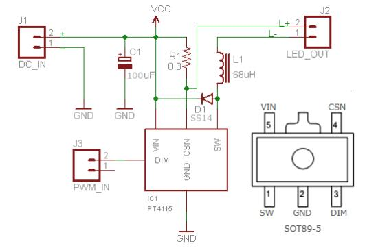 Unique Bedroom Lamp: The LED Driver Schematic Circuit Diagram