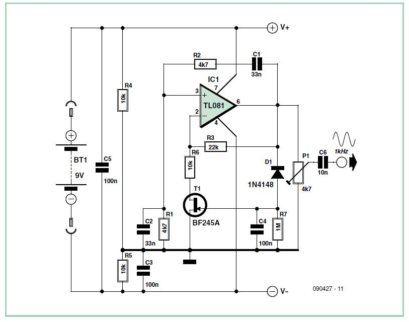 Vest Pocket VHF FM Test Generator Schematic Circuit Diagram