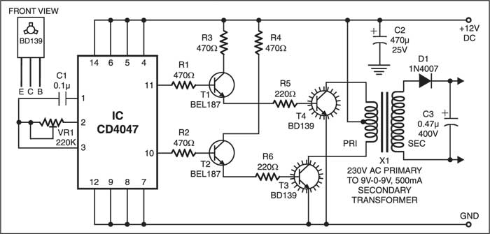 Window Charger Schematic Circuit Diagram