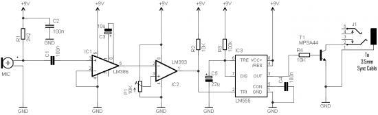 Wireless Remote Camera Flash Trigger Schematic Circuit Diagram 2