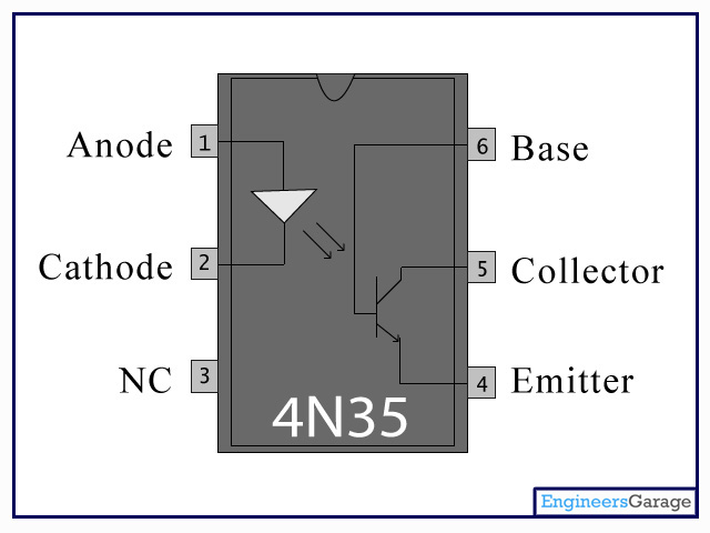 4n35 Pin Schematic Circuit Diagram