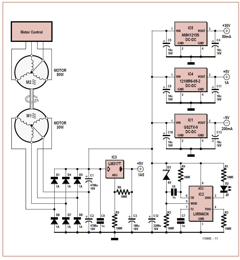 Power Supply with High Voltage Isolation Schematic Circuit Diagram