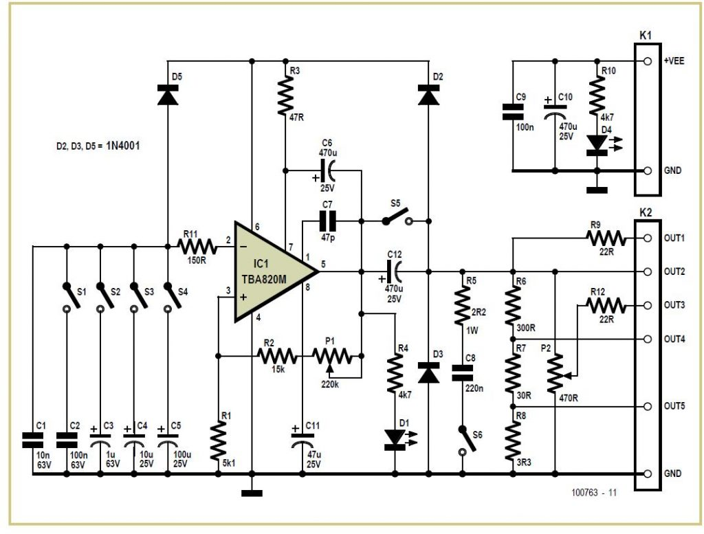 Simple Low Cost Square Wave Generator & Tester Schematic Circuit Diagram