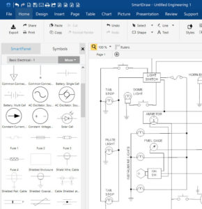 SmartDraw Free Electrical Schematic Diagram Software