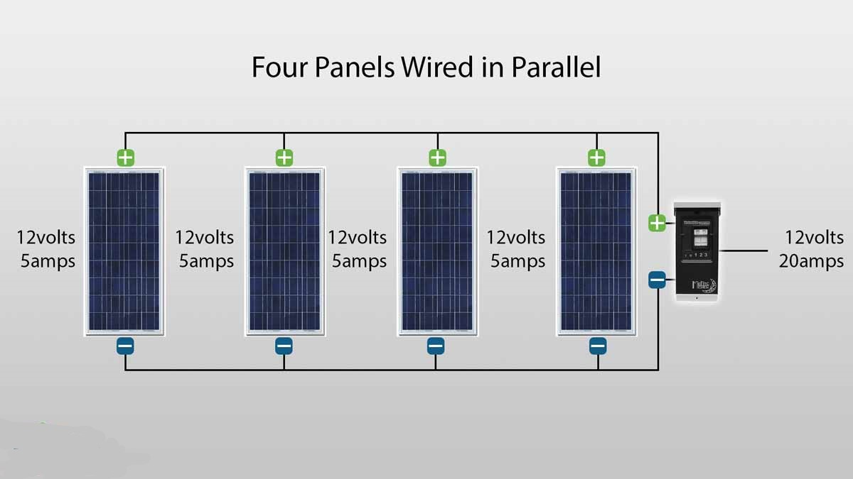 Solar Panel Schematic Circuit Diagram Collection Of Cells Parallel 3