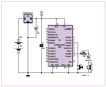 WAV Doorbell Schematic Circuit Diagram