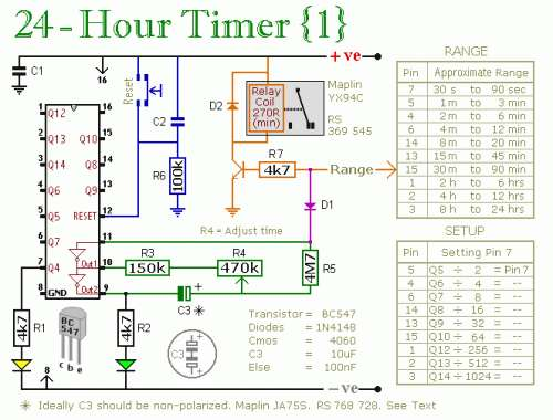 24 Hour Timer Schematic Circuit Diagram 1
