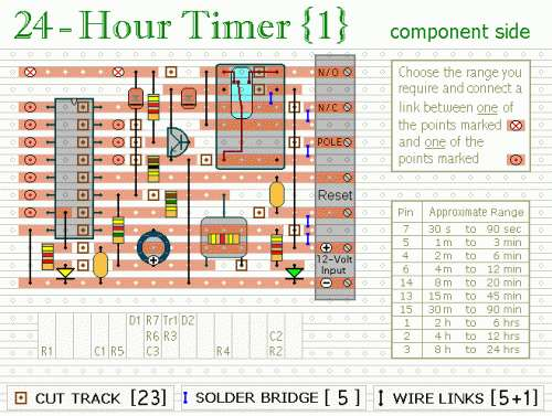 24 Hour Timer Schematic Circuit Diagram 3