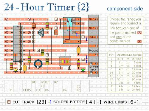 Photo of 24 Hour Timer Schematic Circuit Diagram