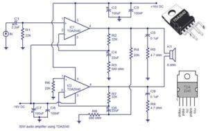 30 Watts Audio Amplifier Schematic Circuit Diagram