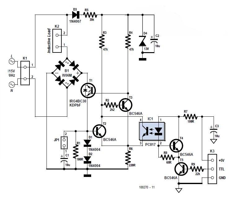 A Zero Current Switch Schematic Circuit Diagram