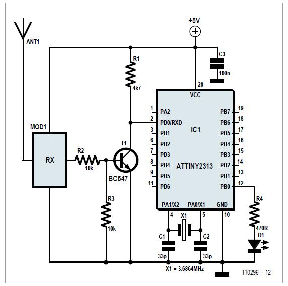 ATtiny Goes Wireless Schematic Circuit Diagram 2