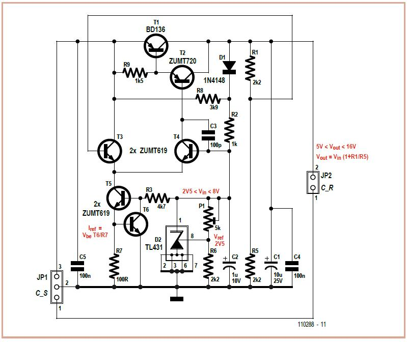 Adjustable Low-Dropout Voltage Regulator Schematic Circuit Diagram