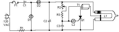 Adjustable Strobe Light Schematic Circuit Diagram 1