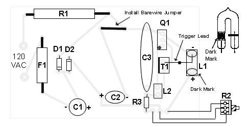 Adjustable Strobe Light Schematic Circuit Diagram 3