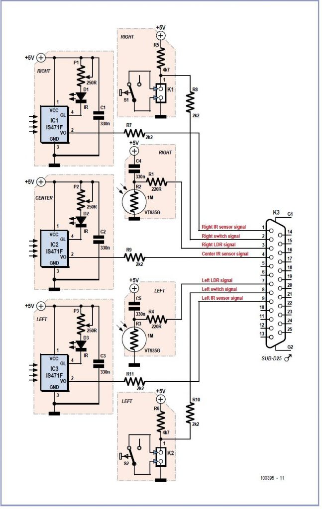Slave Flash for Underwater Camera Schematic Circuit Diagram
