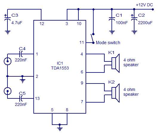 Photo of Car Stereo Amplifier Schematic Circuit Diagram