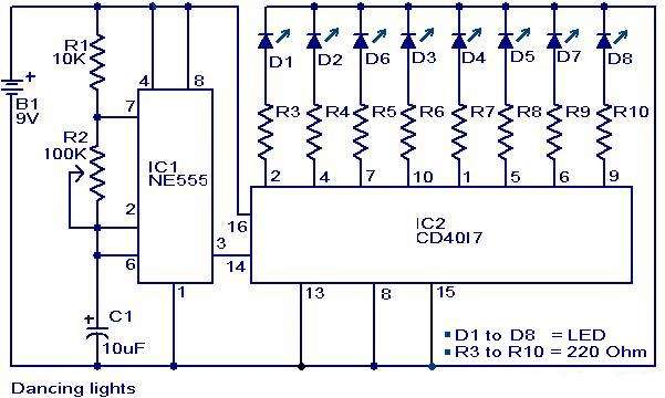 Dancing light Schematic Circuit Diagram
