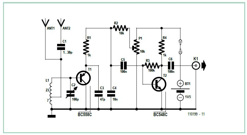 Emitter-Follower Audion Schematic Circuit Diagram