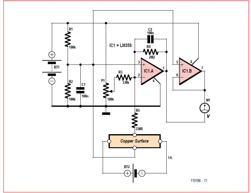 Experimental Hall Sensor Schematic Circuit Diagram