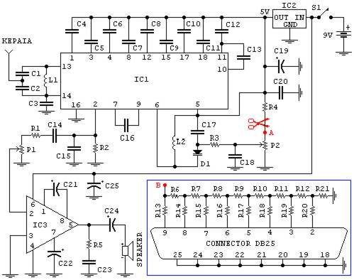 Photo of FM radio (may be used with PC) Schematic Circuit Diagram