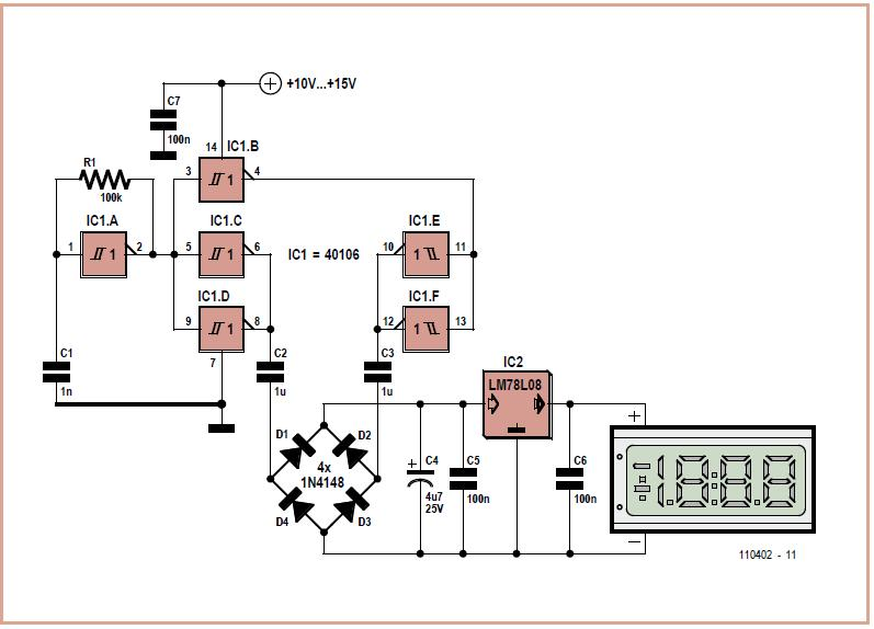 Floating Supply for Panel Meters Schematic Circuit Diagram