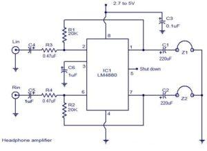 HiFi headphone amplifier schematic circuit diagram
