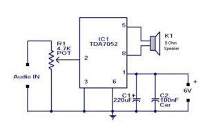 Mini Audio Amplifier Schematic Circuit Diagram