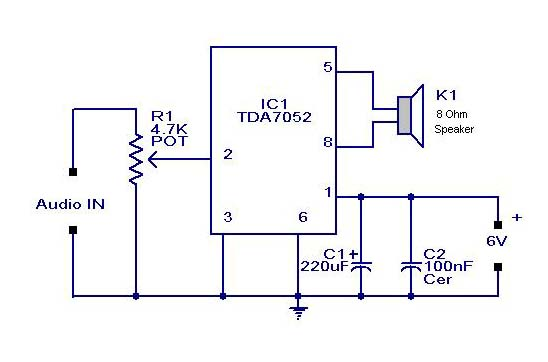 Photo of Mini Audio Amplifier Schematic Circuit Diagram