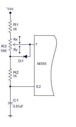 PWM lamp dimmer using NE555 Schematic Circuit Diagram 2
