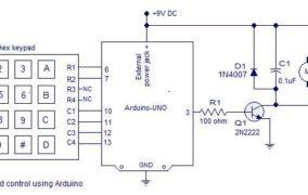 PWM motor speed control using Arduino Schematic Circuit Diagram