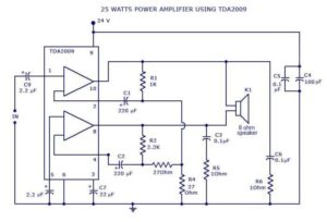 Power Amplifier Circuit Diagram and Power Supply Circuit Schematic