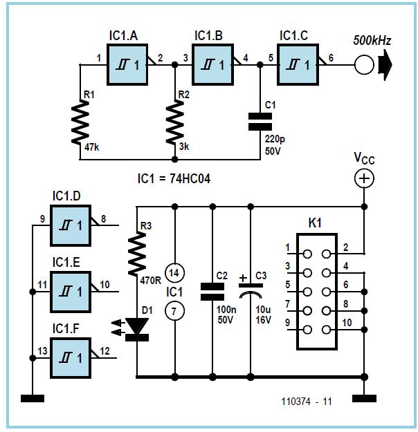 Reanimating Probe for AVR μC Schematic Circuit Diagram