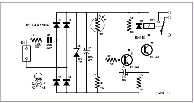 Twilight Switch Schematic Circuit Diagram