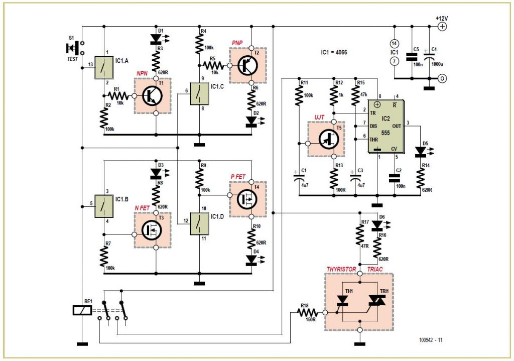 Noisy LEDs Schematic Circuit Diagram