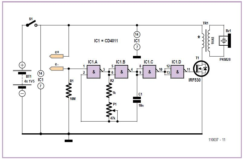 Water Level Detector Schematic Circuit Diagram