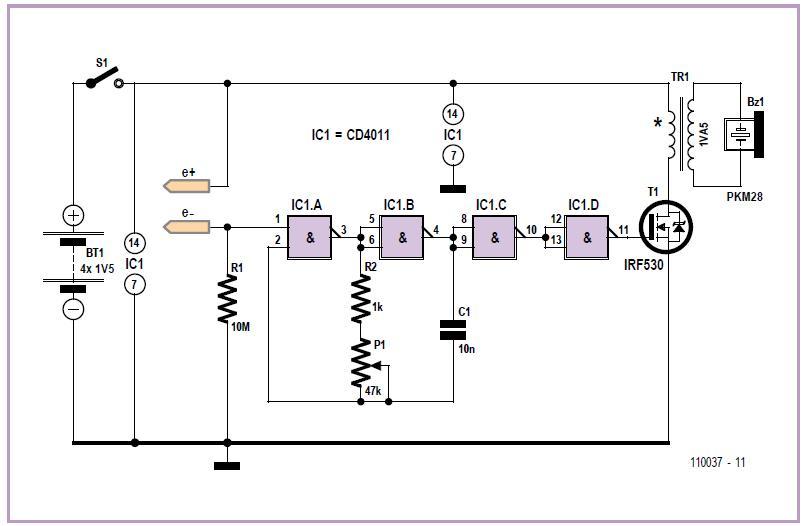 NPN Relaxation Oscillators Schematic Circuit Diagram