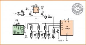 Acoustic Spirit Level or Tilt Alarm Schematic Circuit Diagram 1