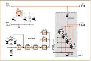 Big Amps DC Motor Driver Schematic Circuit Diagram