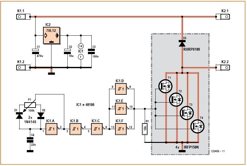 Big Amps DC Motor Driver Schematic Circuit Diagram