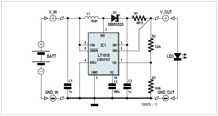 Bulb-2-LED Bicycle Light Conversion Schematic Circuit Diagram