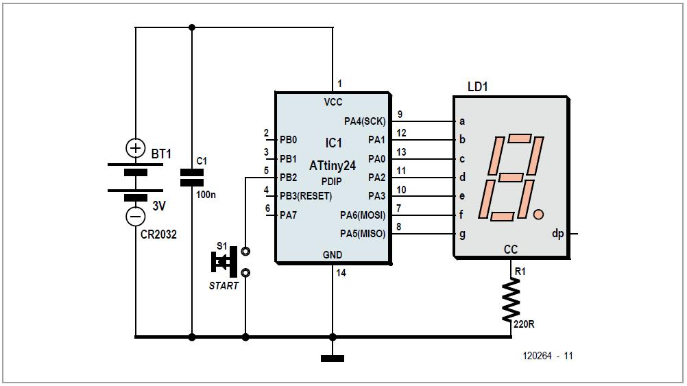 Economical 7-segment Display Schematic Circuit Diagram