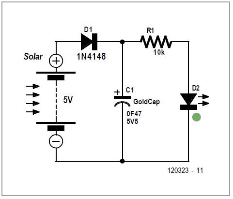 Green' Solar Lamp Schematic Circuit Diagram