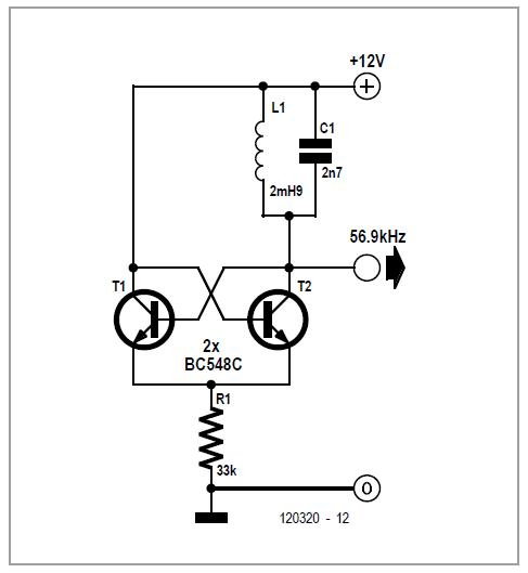 LC Oscillator with Pot Tuning Schematic Circuit Diagram 2