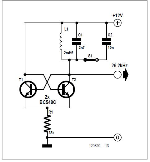 LC Oscillator with Pot Tuning Schematic Circuit Diagram 3