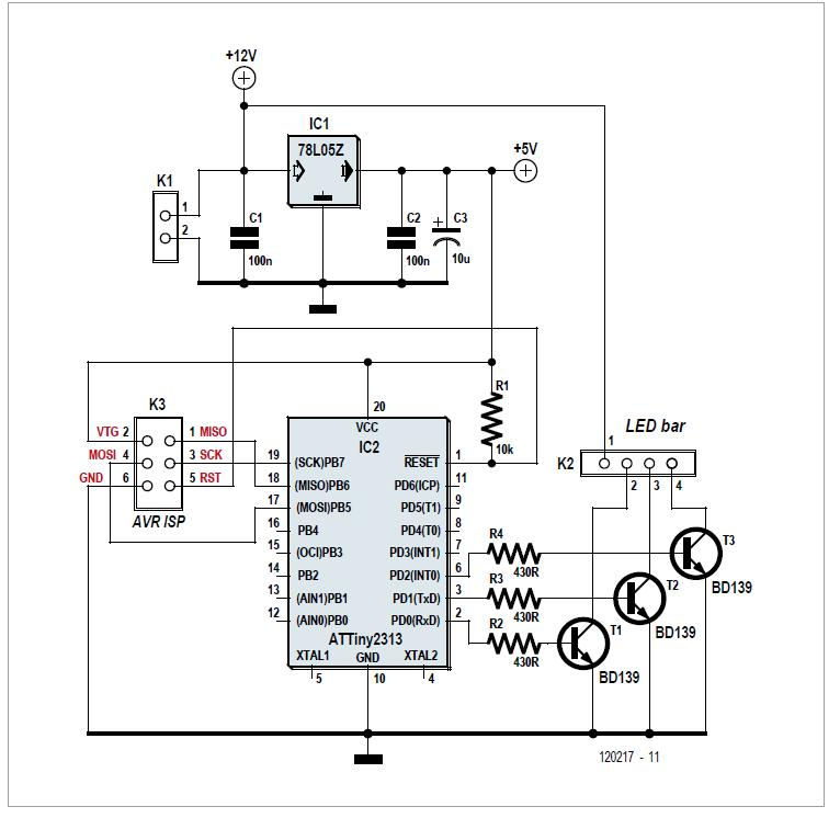 LED Garland Controller Schematic Circuit Diagram