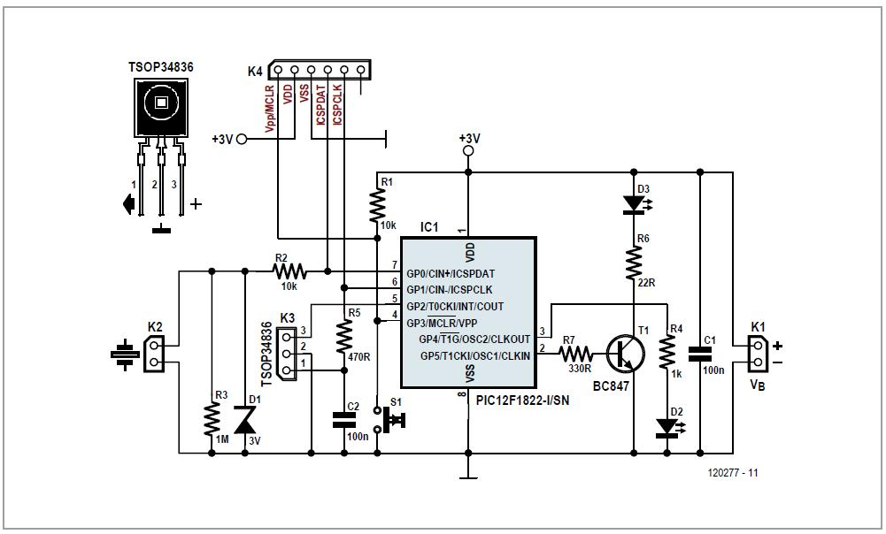 Mini-Mute Schematic Circuit Diagram