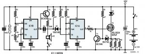 Laser Projection with Arduino Schematic Circuit Diagram